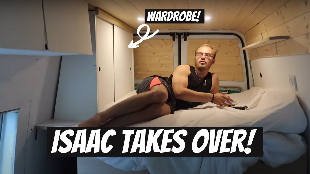 DIY CAMPER CONVERSION: We have a wardrobe! - Isaac takes over   Lucy Lynch