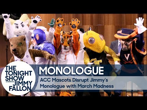 Download Youtube: ACC Mascots Disrupt Jimmy's Monologue with March Madness