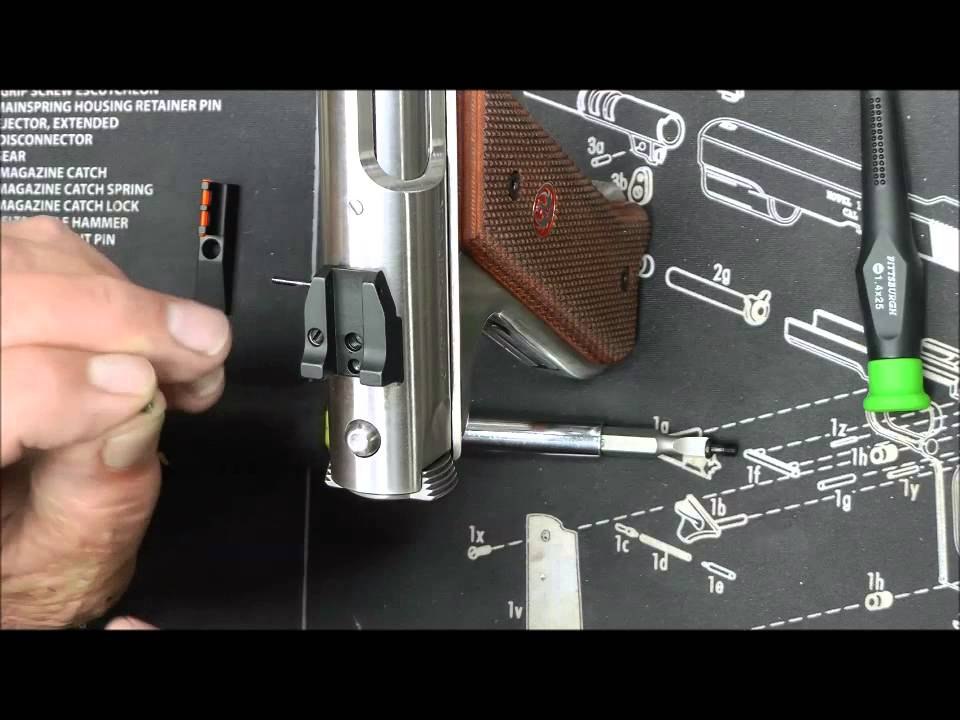 Ruger Mk Iii Rear Sight Replacement In Hd Youtube