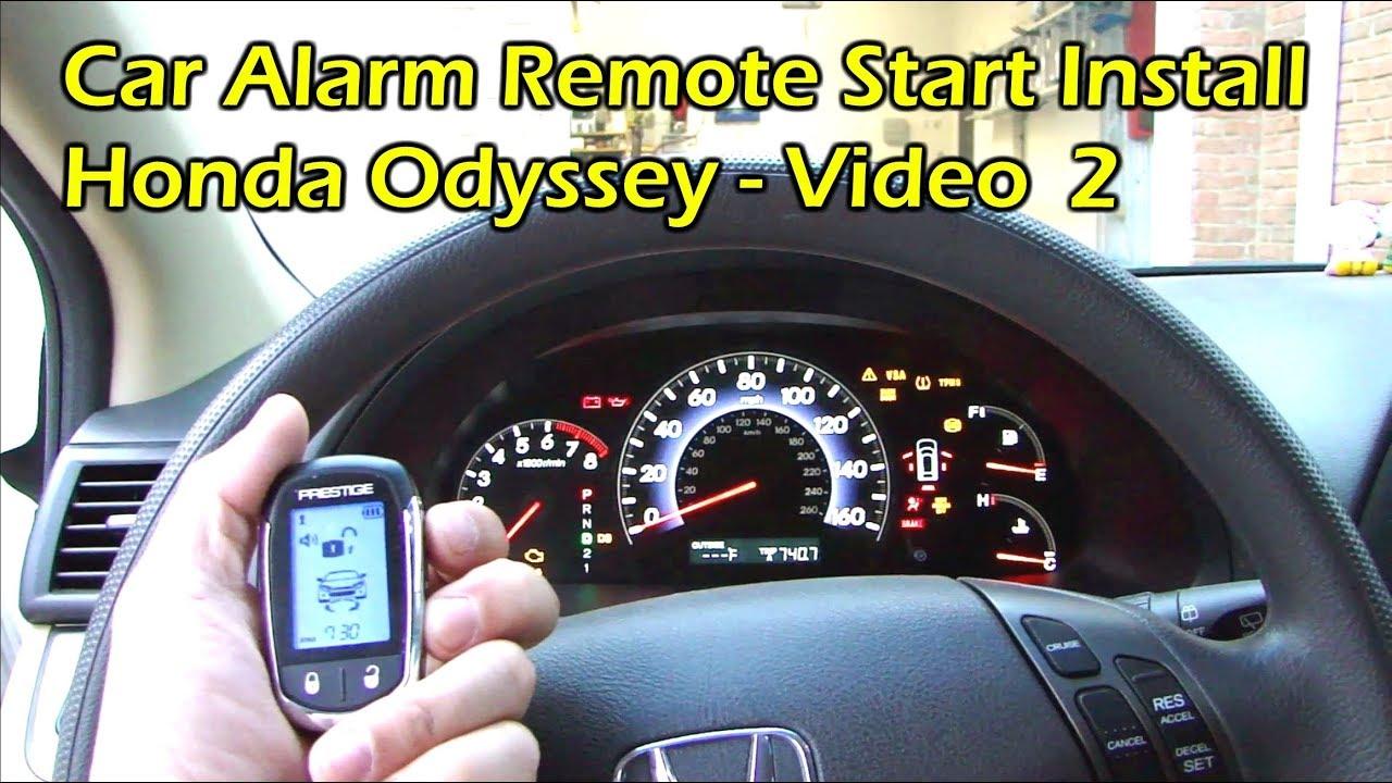 Vehicle Alarm Wiring Diagram 1993 Jeep Cherokee Sport Radio Install Car Remote Start Honda Odyssey Video 2