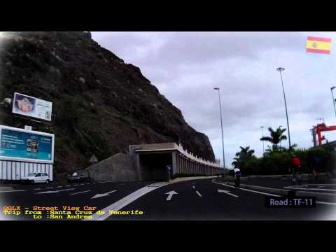 QQLX 0105 TENERIFE   trip from Santa Cruz to San Andres - Street View Car TF 11 2013