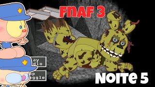 Mongo e Drongo em FNAF 3 - Five Nights at Freddy's 3 - Noite 5 - desenho animado paródia de FNAF 3