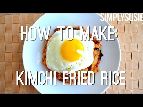 QUICK + EASY KIMCHI FRIED RICE | AUTHENTIC KOREAN FOOD | KIMCHI BOKKEUMBAP | SimplySusie
