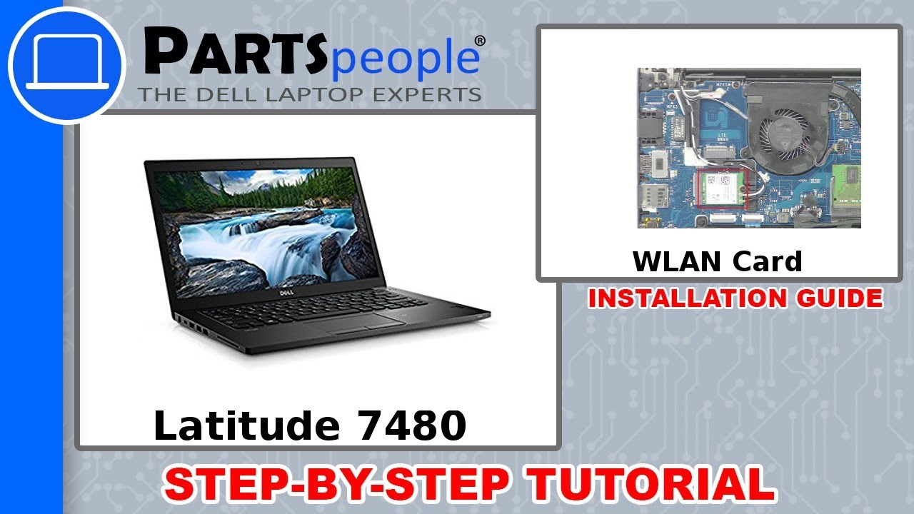 Dell Latitude 7480 (P73G001) WLAN Card Removal and Installation