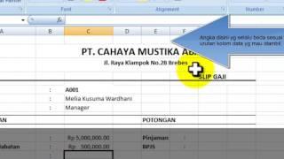 Tutorial Membuat Slip Gaji Sederhana Dgn Excel