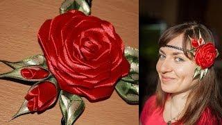 Роза Канзаши на Афинке (мастер класс) / DIY Kanzashi Rose