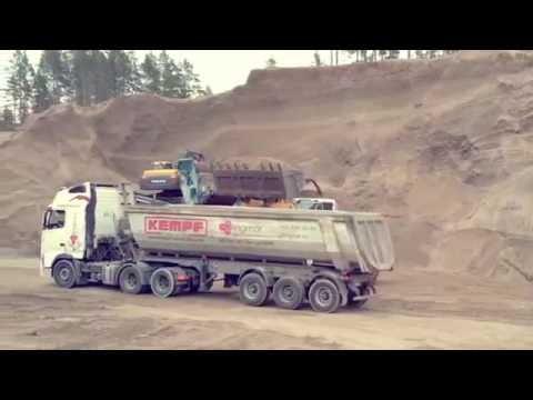 Доставка песка, щебня по Москве и области