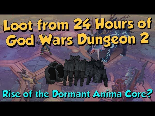 Loot from 24 Hours of GWD2! [Runescape 3] Dormant Anima Core for Days!