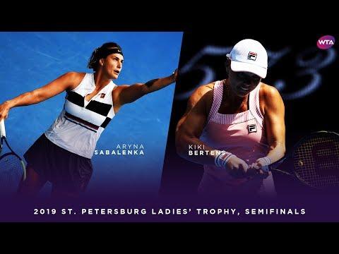 Aryna Sabalenka vs. Kiki Bertens | 2019 St. Petersburg Ladies Trophy Semifinal | WTA Highlights