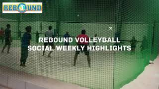 Rebound indoor beach volleyball social highlights