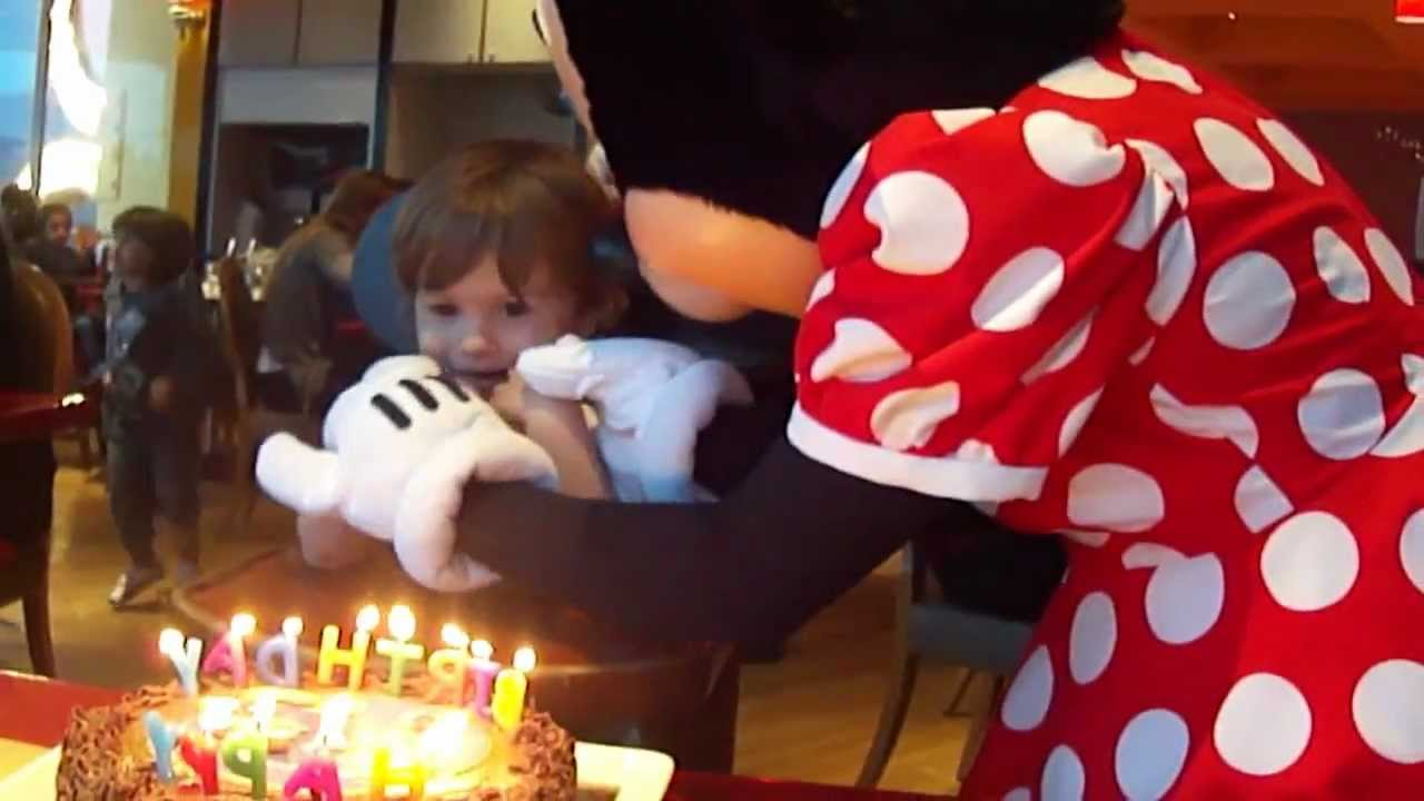 Minnie Blew My candles out Disney Cafe Edwards 3rd Birthday
