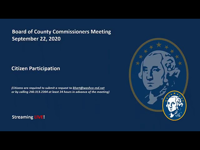 Board of County Commissioners Meeting - September 22, 2020