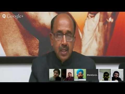 Why NaMo: Google Hangout with Shri Vijay Goel