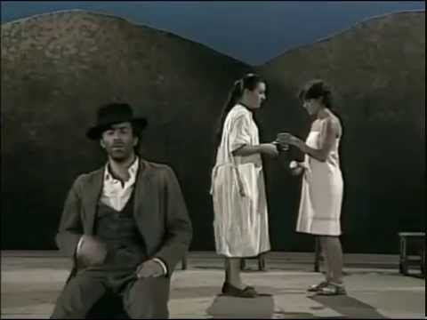 """Blanca Portillo y Helio Pedregal en """"Bodas de Sangre"""" 1986"""