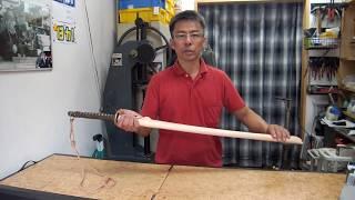 旧日本陸軍軍刀の革鞘作製