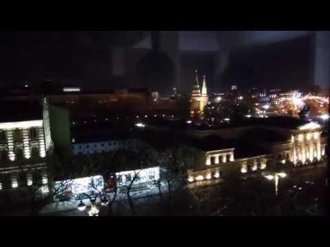. Москва. Вид на Моховую улицу и Кремль из Библиотеки. 20 апреля 2019 г.