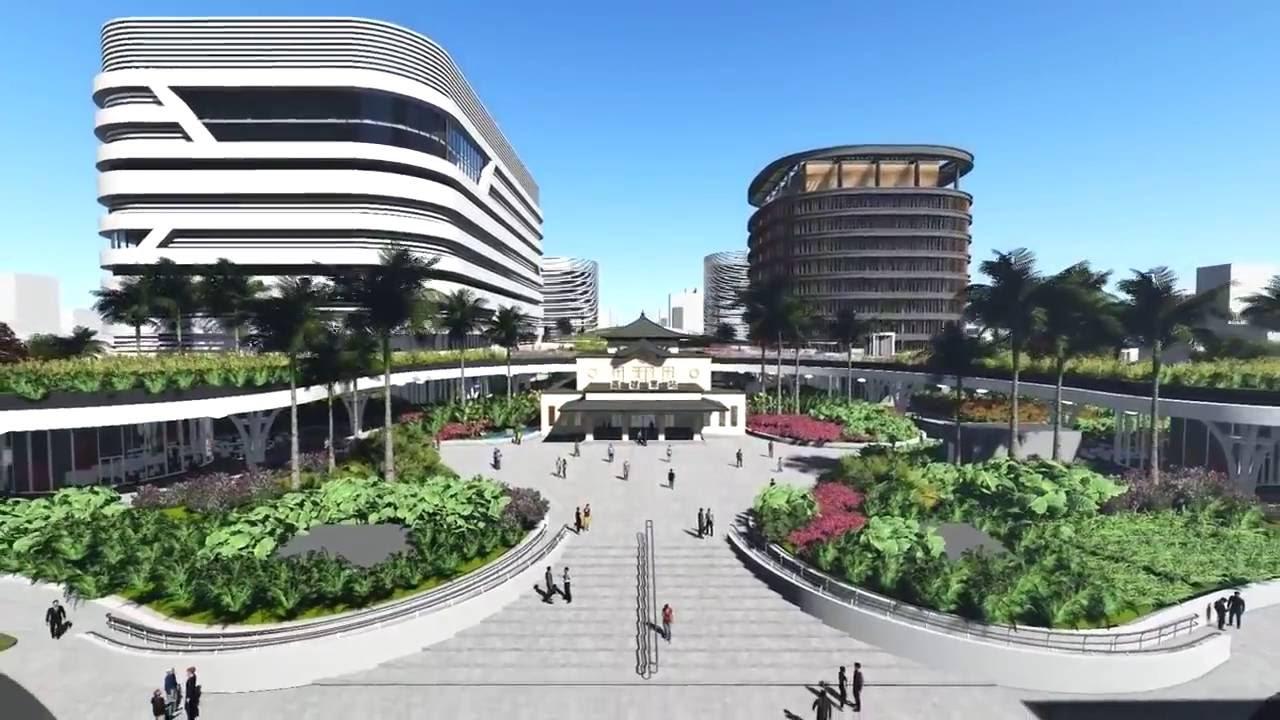 Mecanoo高雄車站段地下化模擬概念影片Kaohsiung Station - YouTube