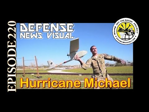 MILITARY OPS Raven Drone System Hurricane Michael