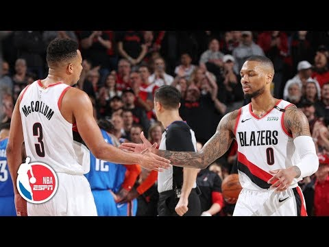 Damian Lillard, CJ McCollum end Blazers' playoff losing streak vs Thunder | NBA Highlights