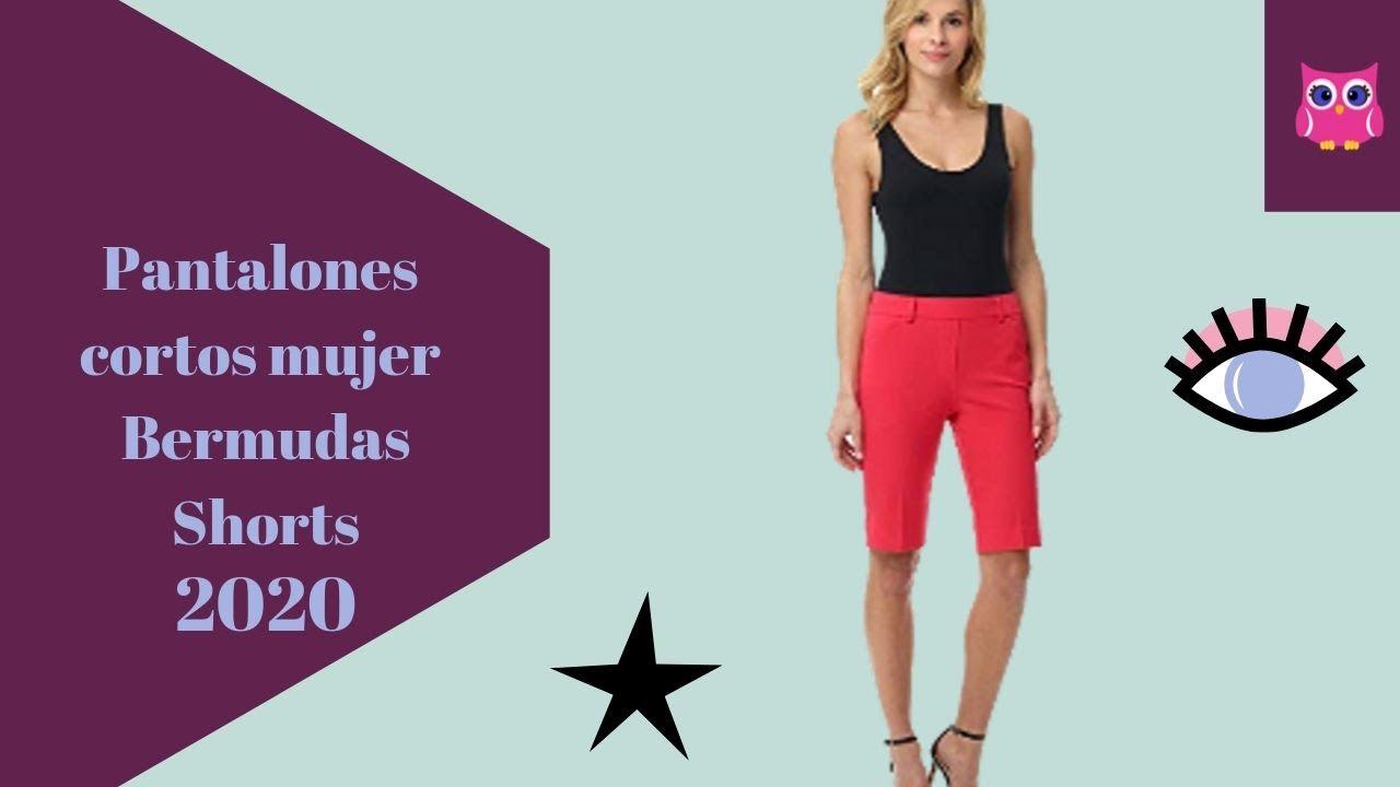 Pantalones Cortos Mujer Shorts Mujer Bermudas Mujer 2020 Moda Shorts Outfit Youtube