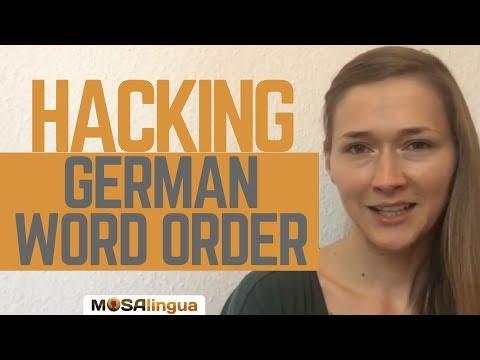 German Grammar : How To Hack The German Word Order?