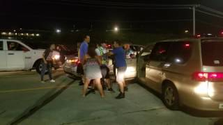 Traffic after a concert leads to a BRAWL!