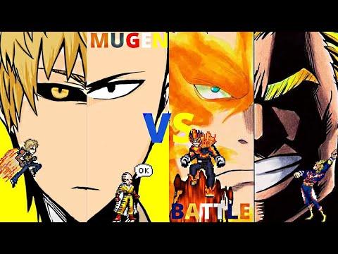 Saitama & Genos vs All Might & Endeavor