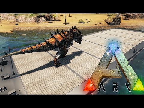 Ark Survival Evolved - DINO BARGE, METAL RAPTOR ARMOR - Modded Survival Ep28 (Ark Gameplay)
