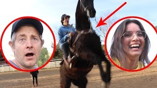 VLOG SQUAD COULDN'T BELIEVE THESE HORSE TRICK RIDERS!!