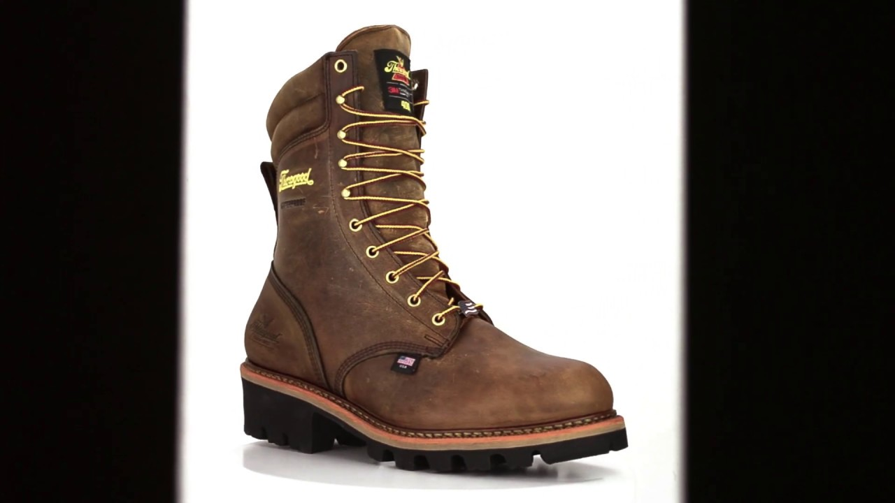 3fd3a8397d7 Men's Thorogood 9 Inch Steel Toe WP/Insulated Logger Boot USA Built 804-3554
