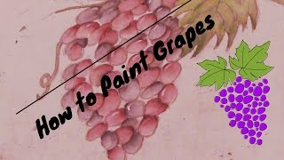 How  to Paint Grapes-Full Tutorial