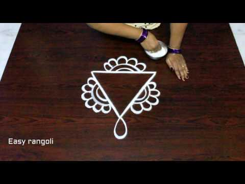 free hand rangoli designs || muggulu designs || kolam designs || easy rangoli designs