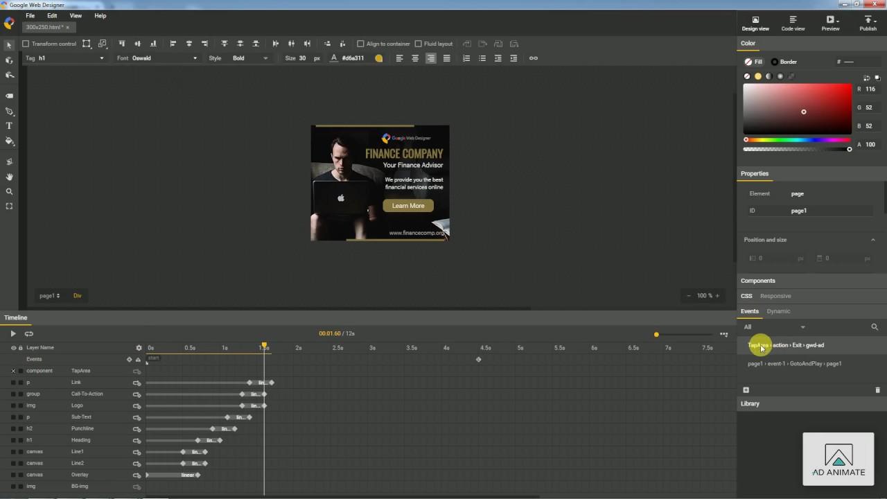 Changing Banner Link In Google Web Designer Youtube