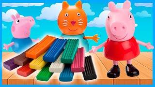 Лепим Свинку Пеппу из пластилина - Мультик для детей - Peppa Pig