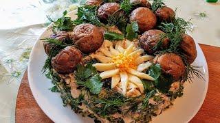 Грибная поляна. Салат цыганская грибная поляна. Лесная поляна. Gipsy kitchen.