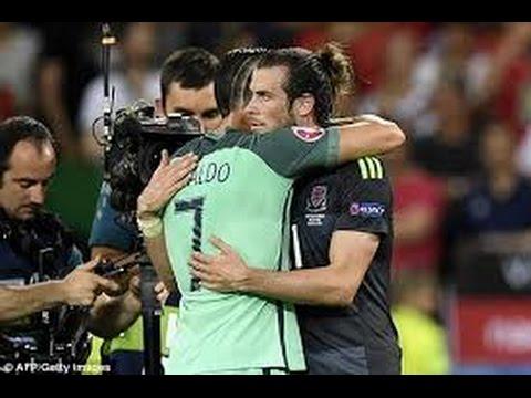 Cristiano Ronaldo Hugging Gareth Bale After Match Portugal VS Wales | RESPECT | 2016