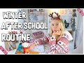 WINTER AFTER SCHOOL & HAUSAUFGABEN ROUTINE 2019 | MaVie Noelle Family