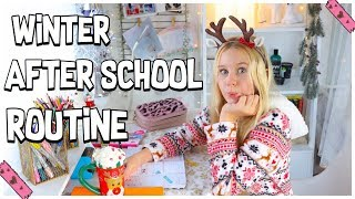 WINTER AFTER SCHOOL & HAUSAUFGABEN ROUTINE 2019 | MaVie Noelle Family