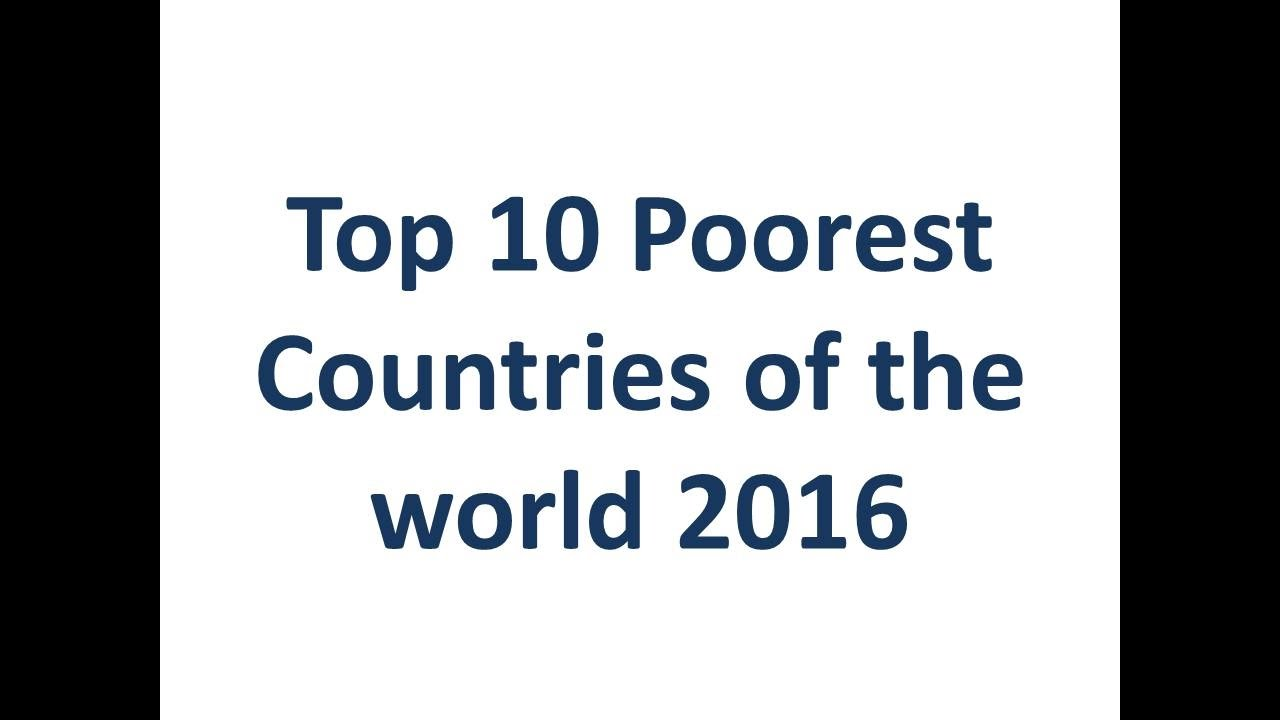 Top Poor Countries Of YouTube - Most poorest country 2016