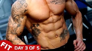 ABS TRAINING - ROSS DICKERSON DAY 3 OF 5 DAY SPLIT
