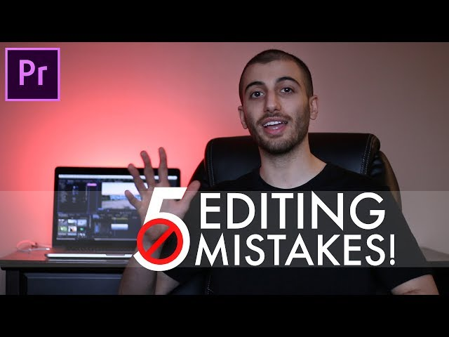 5 Beginner Video Editing MISTAKES  (and how to FIX them!) (Premiere Pro CC)