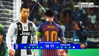 PES 2019 | Juventus vs Barcelona | Final UEFA Champions League (UCL) | Penalty Shootout