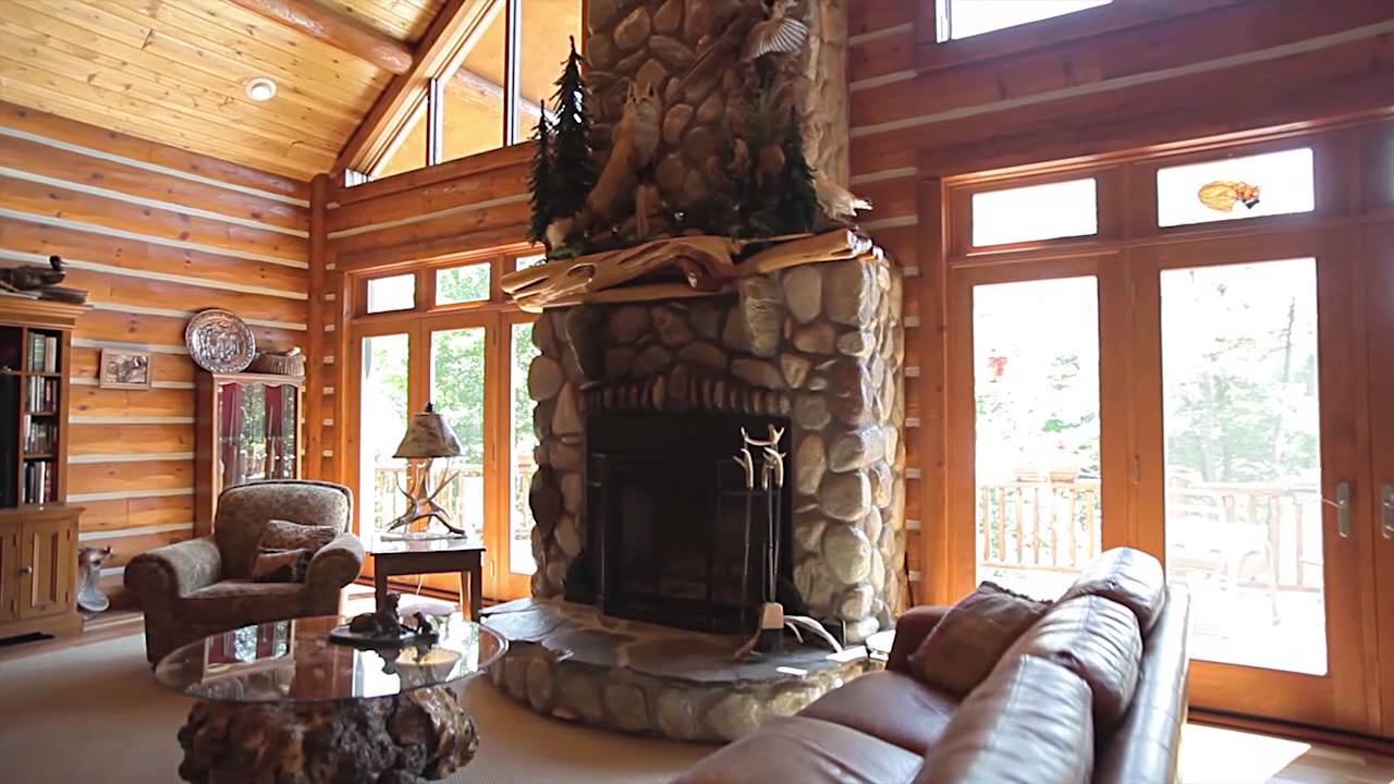 fox woods home tour hybrid log chalet style dickinson homes leclair photo video youtube. Black Bedroom Furniture Sets. Home Design Ideas