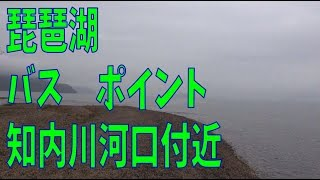 琵琶湖 バスポイント  知内川河口付近
