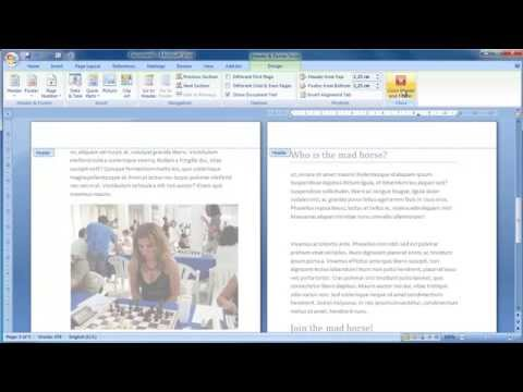 How to make a double sided booklet in word 2007