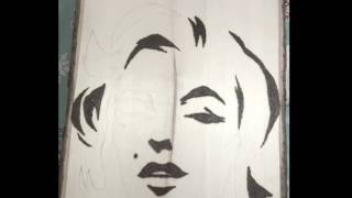 Marilyn Monroe DIY Wood Burn