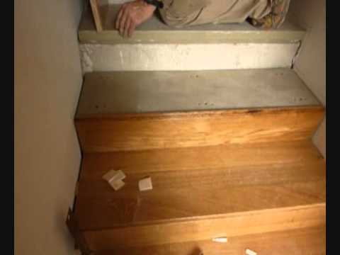 Forrado escalera madera de roble youtube - Como forrar una escalera de madera ...