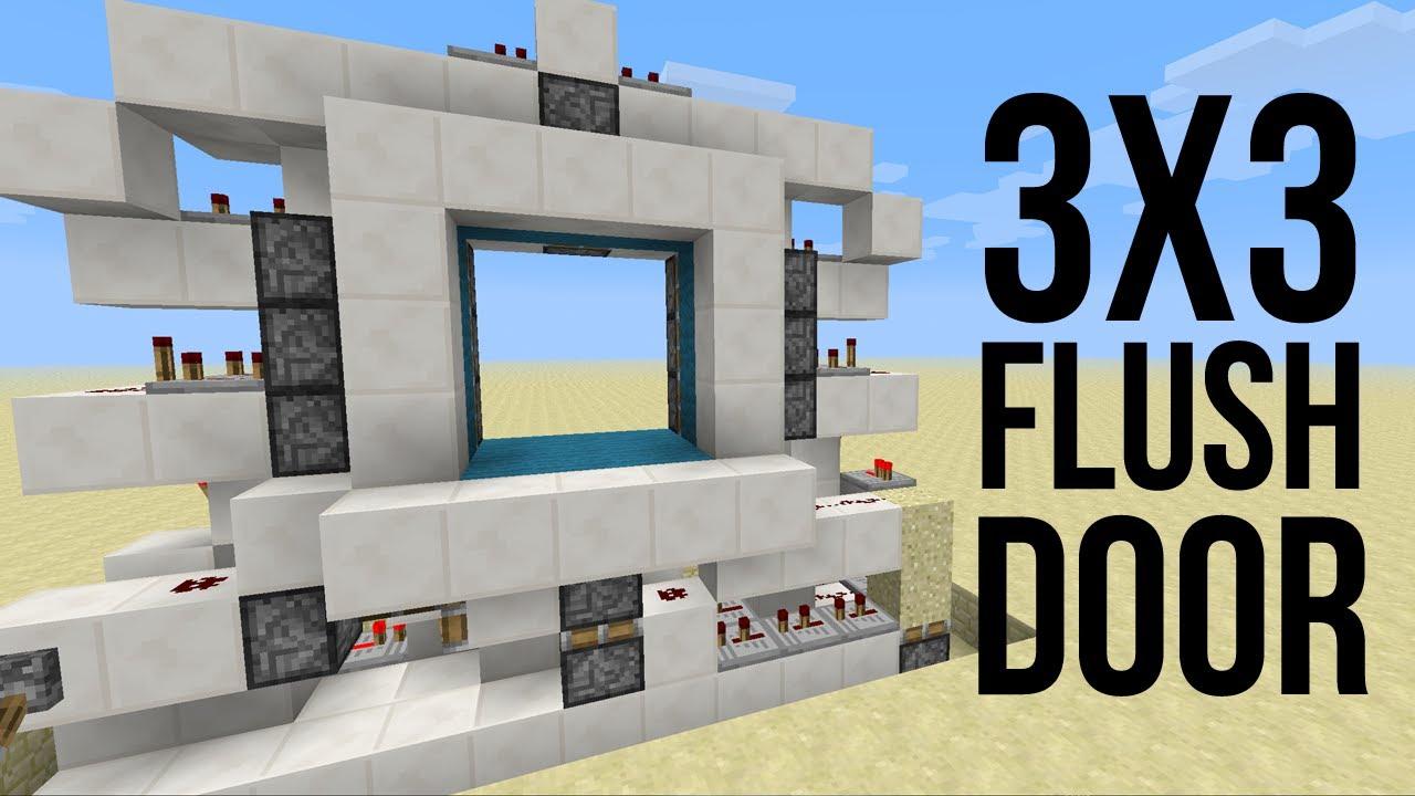 & 3x3 Flush Piston Door [1.5][Fast - Bukkit] - YouTube Pezcame.Com