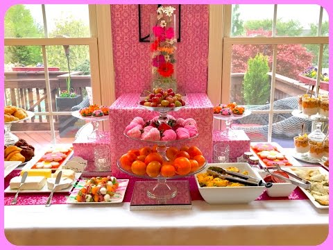 Mother's Day Brunch Buffet And Tablescape
