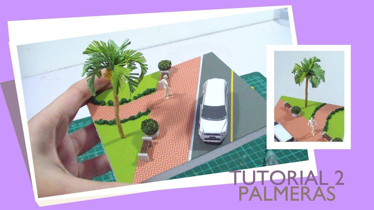 TUTORIAL PALMERAS PARA MAQUETA ESCALA 1/100 - YouTube